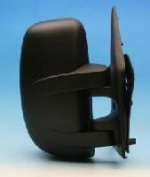 Renault Master Van [03-06] Complete Manual Adjust Mirror Unit - Black - Short Arm